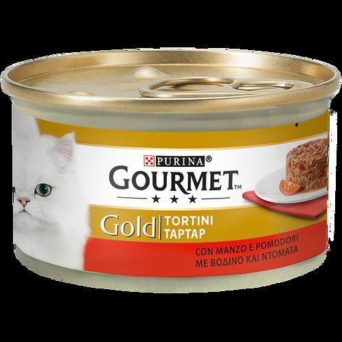 GOURMET Gold Tortini Gatto con Manzo e Pomodori 85 Gr.