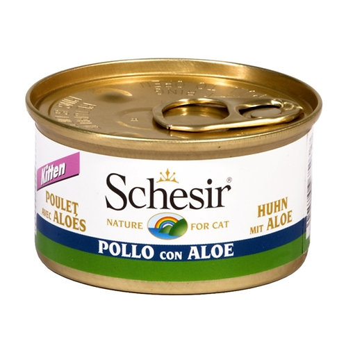Schesir - Kitten Filetti di Pollo con Aloe in Gelatina 85 Gr.