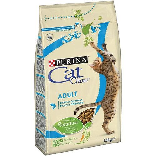 CAT CHOW Adult Gatto Crocchette ricco dii Salmone 1,5 kg