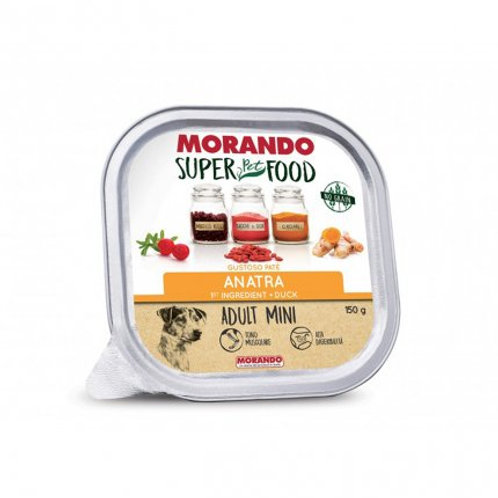 Morando Super Pet Food Cane Adult Mini Pate' all'Anatra  150 Gr.
