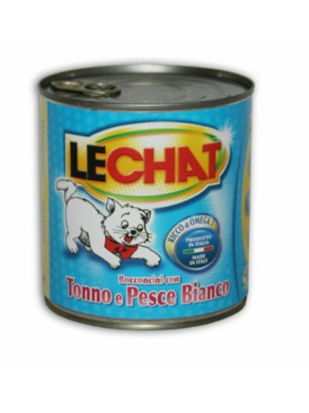 LeChat Bocconcini con Tonno e Pesce Bianco 720 Gr.
