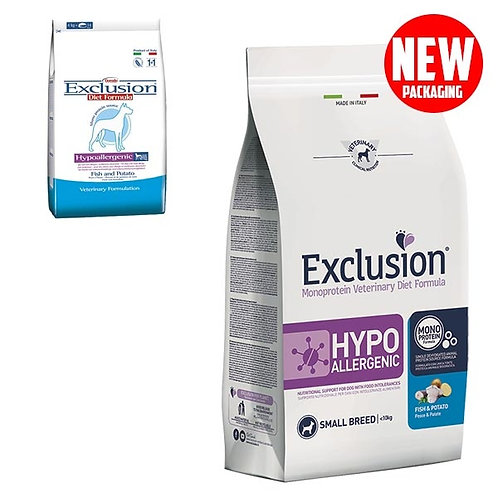 Exclusion - Diet Hypoallergenic Small Breed Pesce e Patate