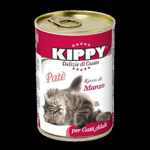 Kippy Gatto Adult Patè Ricco di Manzo 400 Gr.