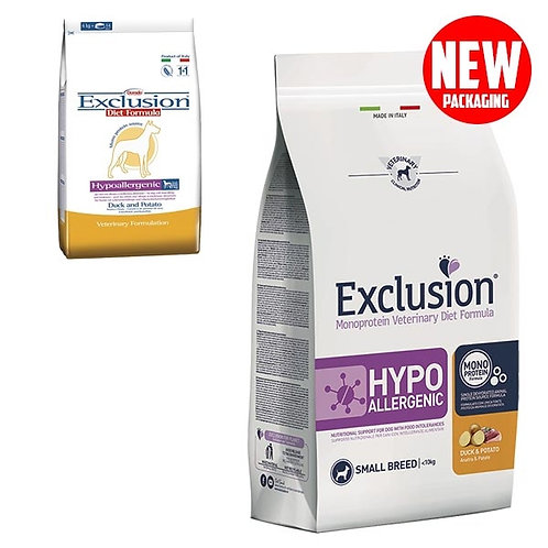 Exclusion - Diet Hypoallergenic Small Breed Anatra e Patate