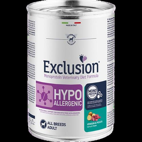 Exclusion - Diet Hypoallergenic al Cervo e Patate da 400 gr