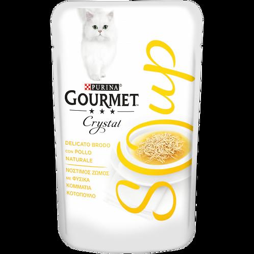 GOURMET Crystal Soup Gatto Delicato brodo con Pollo naturale 40 g