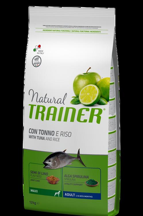 Natural Trainer Adult Maxi con Tonno e Riso 12 Kg.