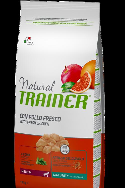 Natural Trainer Medium Maturity con Pollo e Riso 12 Kg.