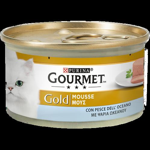 GOURMET Gold Gatto Mousse con Pesce dell'Oceano 85 Gr.