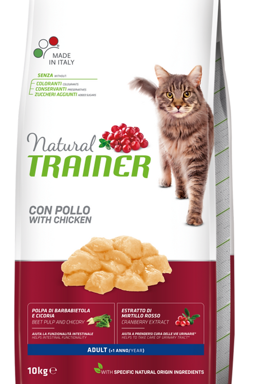 Natural Trainer  Gatti Adult ,con Pollo 10 Kg.