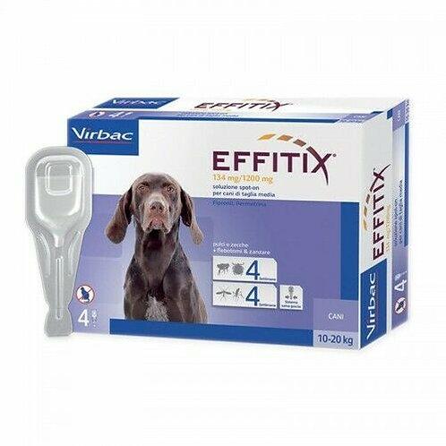 Virbac-Effitix Spot-On  Antiparassitario contro pulci,zecche zanzare 10-20 Kg.