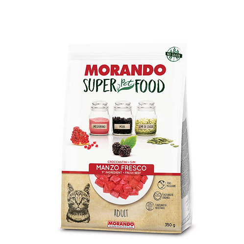 Morando SuperPetFood Adult Croccantini Manzo 350 Gr.
