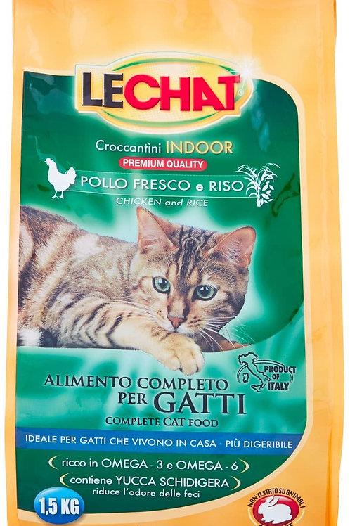 Monge LeChat Crocchette Indoor con Pollo Fresco e Riso 1.5 Kg