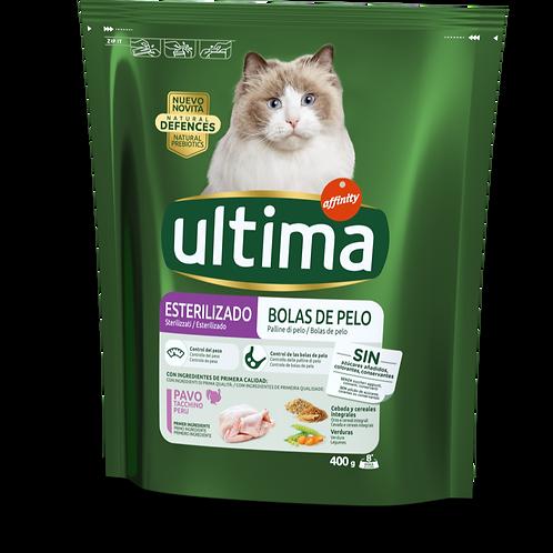 Ultma Cat Sterilizzati Hairball Palline di pelo con Tacchino e Riso 400 Gr.