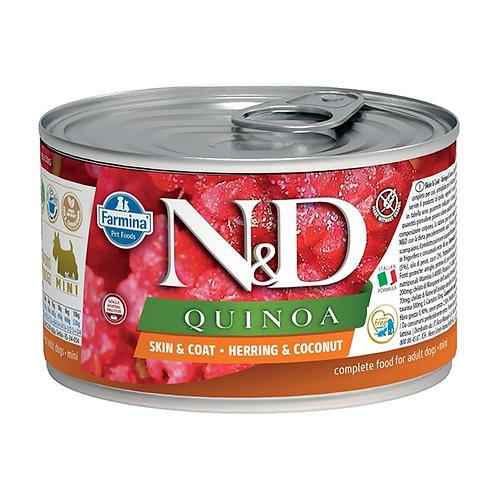 Farmina Natural & Delicious Quinoa Skin & Coat Mini con Aringa e Cocco 140 Gr.