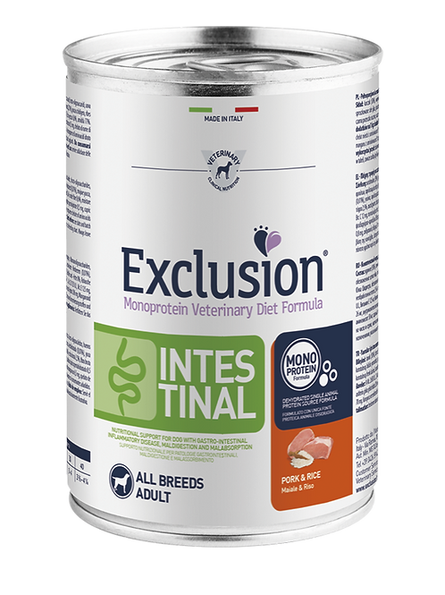 Exclusion Intestinal All Breeds Maiale e Riso 400 Gr.