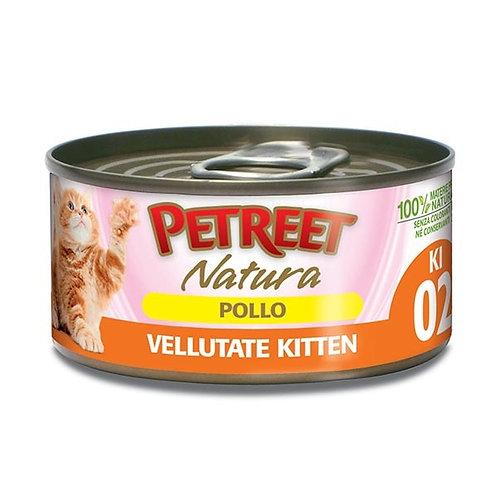 Petreet Natura Le Vellutate Kitten con Pollo 60 Gr.