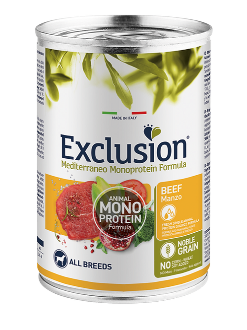 Exclusion Mediterraneo Adult All Breeds Manzo 400 Gr.