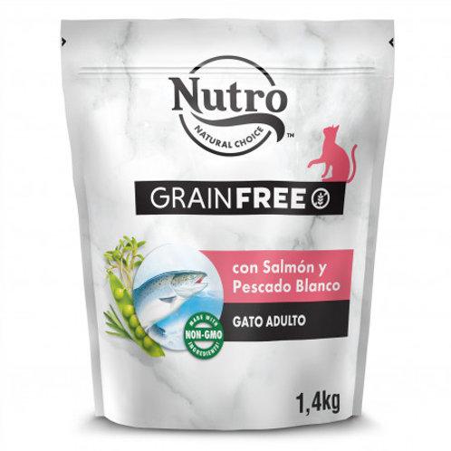 Nutro Grain Free Gatto Adulto con Salmone e Pesce Bianco  1.4 Kg.