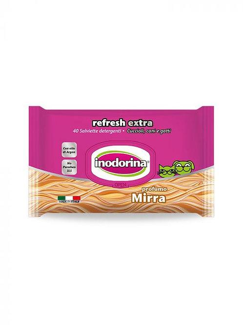 Inodorina Refresh Extra - 40 Salviette Detergenti - Profumazione Mirra Orientale