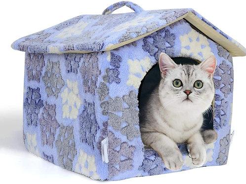 Cuccia Casetta In Morbido Pile per Gatti e Piccoli Cani 3 Misure