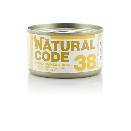 Natural Code - 38 Tonno, Manzo e Olive  85 Gr.