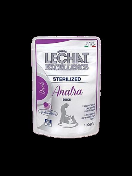 Lechat Excellence Bocconcini Gatti Sterilizzati Anatra 100 Gr.