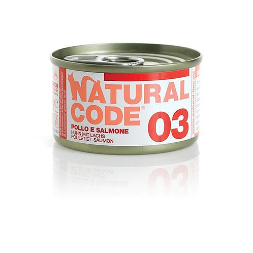 Natural Code - 03 Pollo e Salmone 85 Gr.