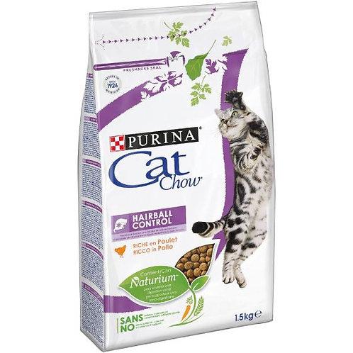 CAT CHOW Hairball Control Gatto Crocchette ricco di Pollo 1,5 kg