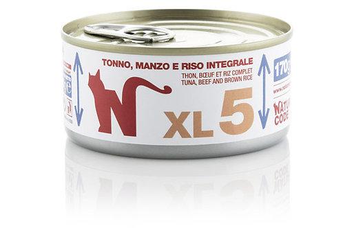 Natural Code Gatto Adult XL5 Tonno, Manzo e Riso Integrale 170 Gr.