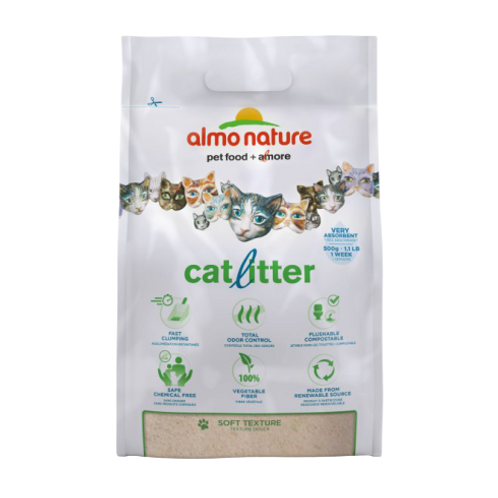 Almo Nature Lettiera Agglomerante Biodegradabile 4.54 Kg.