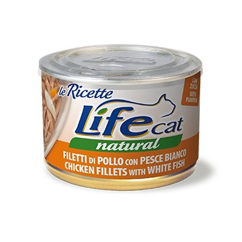 Life Pet Care - Life Cat Le Ricette Filetti di Pollo con Pesce Bianco e Zucca