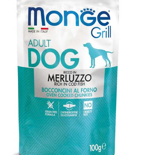 Monge Grill Adult Bocconcini al Forno con Merluzzo 100 Gr.