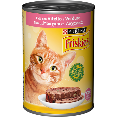PURINA FRISKIES Paté con Vitello e Verdure Lattina 400 g