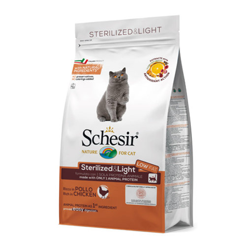 Schesir - Dry Line Sterilized & Light con Pollo