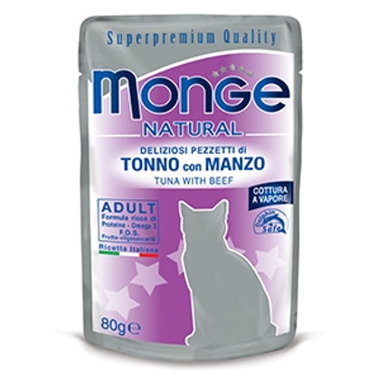 Monge - Natural Superpremium Cotti a Vapore con Tonno e Manzo