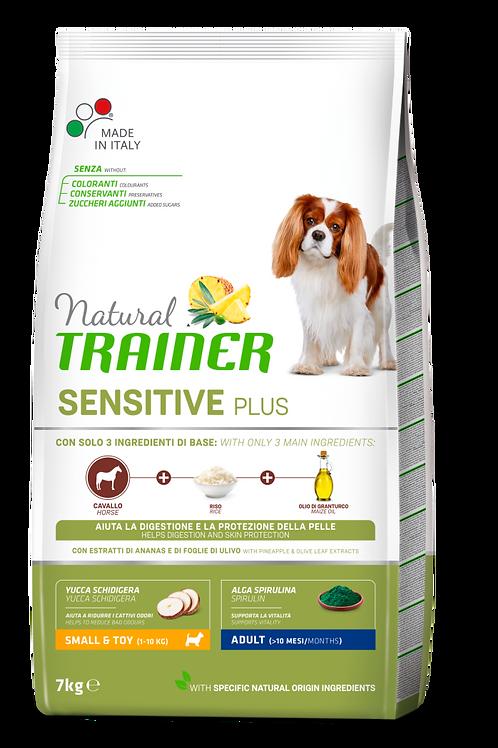 Natural Trainer Sensitive Plus Small&Toy Adult con Cavallo,riso,olio 7 Kg.