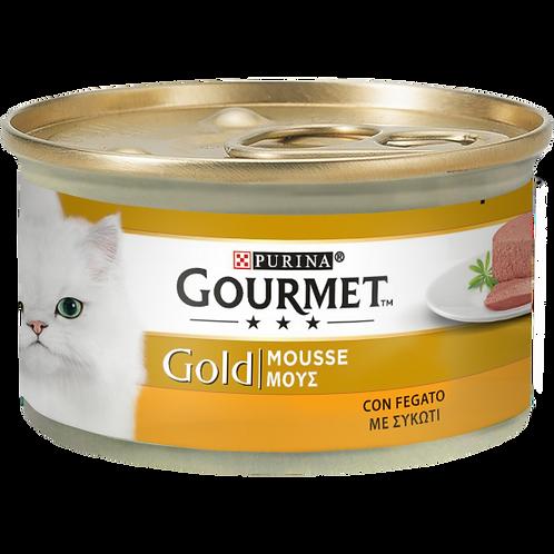 GOURMET Gold Gatto Mousse con Fegato 85 Gr.