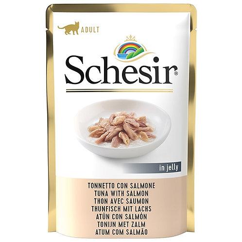 Schesir - Filetti di Tonnetto e Salmone in Gelatina 85 Gr.