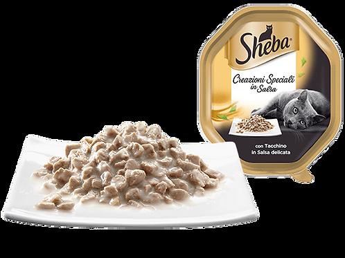 Sheba Creazioni Speciali con Tacchino in salsa Delicata 85 Gr.