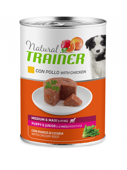 Natural Trainer Maintenance Medium&Maxi Puppy&Junior con pollo 400 Gr.