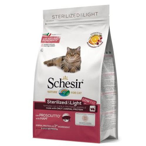 Schesir - Dry Line Sterilized & Light con Prosciutto 1.5 Kg.