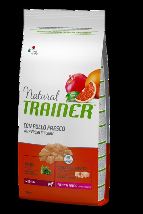 Natural Trainer Junior Medium con Pollo 12 Kg.
