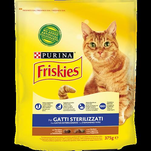 FRISKIES Gatto Crocchette Sterilizzati con Tacchino e con Verdure 375 g