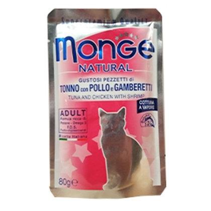 Monge - Natural Superpremium Cotti a Vapore con Tonno, Pollo e Gamberetti