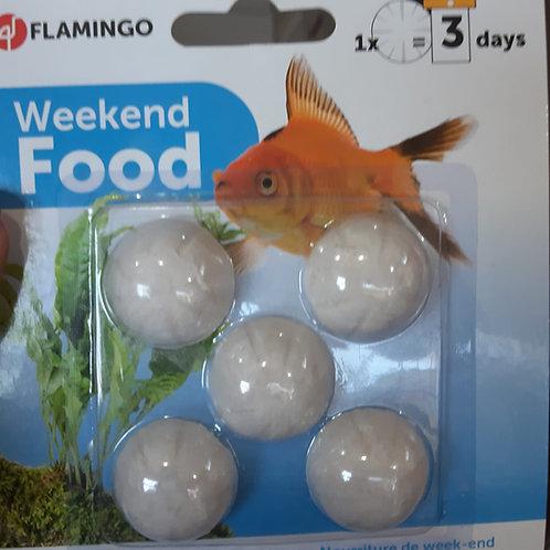 Flamingo Weekend Food per Pesci 5 pz.