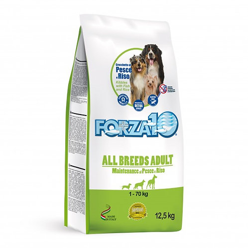 Forza 10 Maintenance All Breeds con Pesce e Riso da 12,5 Kg