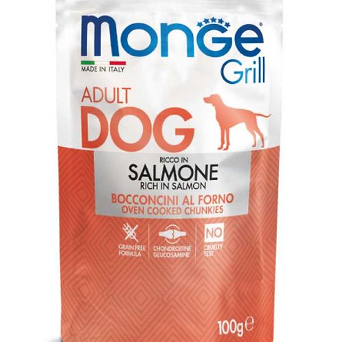 Monge Grill Adult Bocconcini al Forno con Salmone 100 Gr.