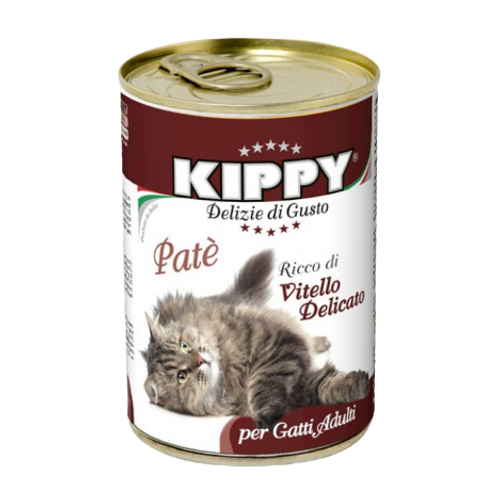Kippy Gatto Sterilizzato Patè con Vitello Delicato 400 Gr.