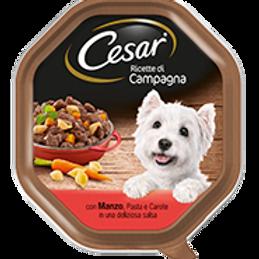 Cesar Ricette di Campagna Manzo,Pasta e Carote in una deliziosa salsa 150 Gr.